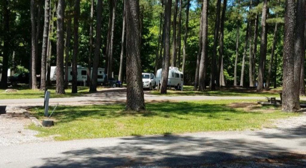 RV at Hillman Ferry Campground