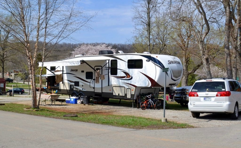 RV at Jellystone RV Park, one of the top RV parks in Kentucky