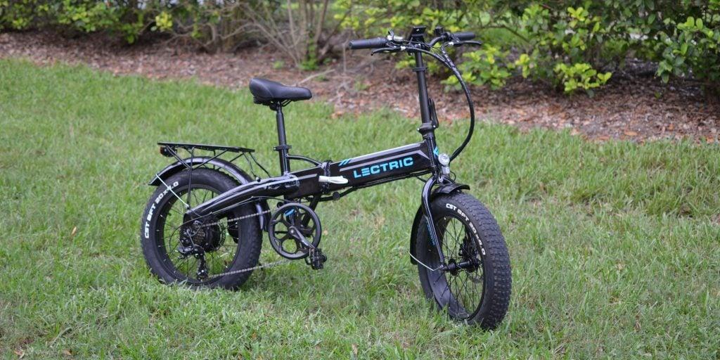 e-bike in grass