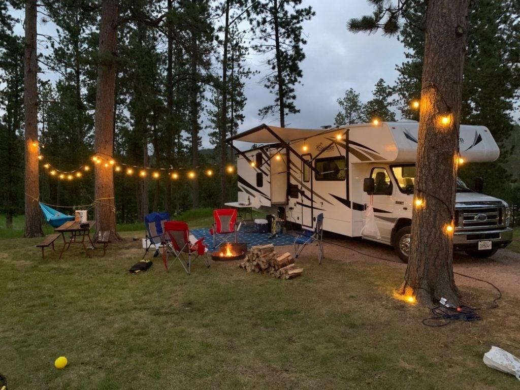 RV at rafter J bar ranch campground