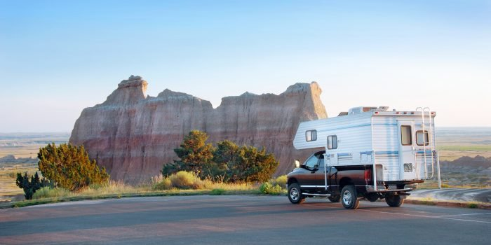 RV parked in South Dakota