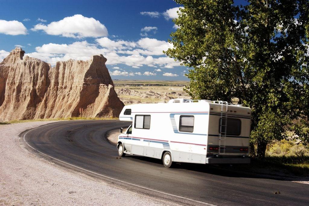 RV driving in South Dakota