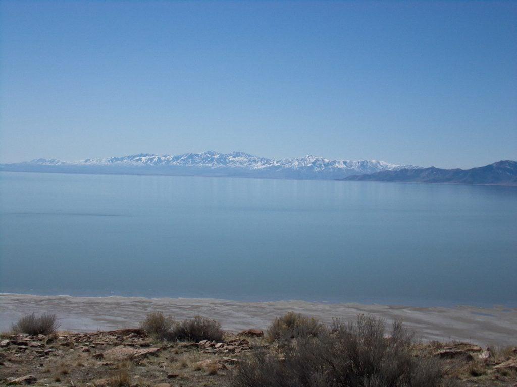 The Great Salt Lake.