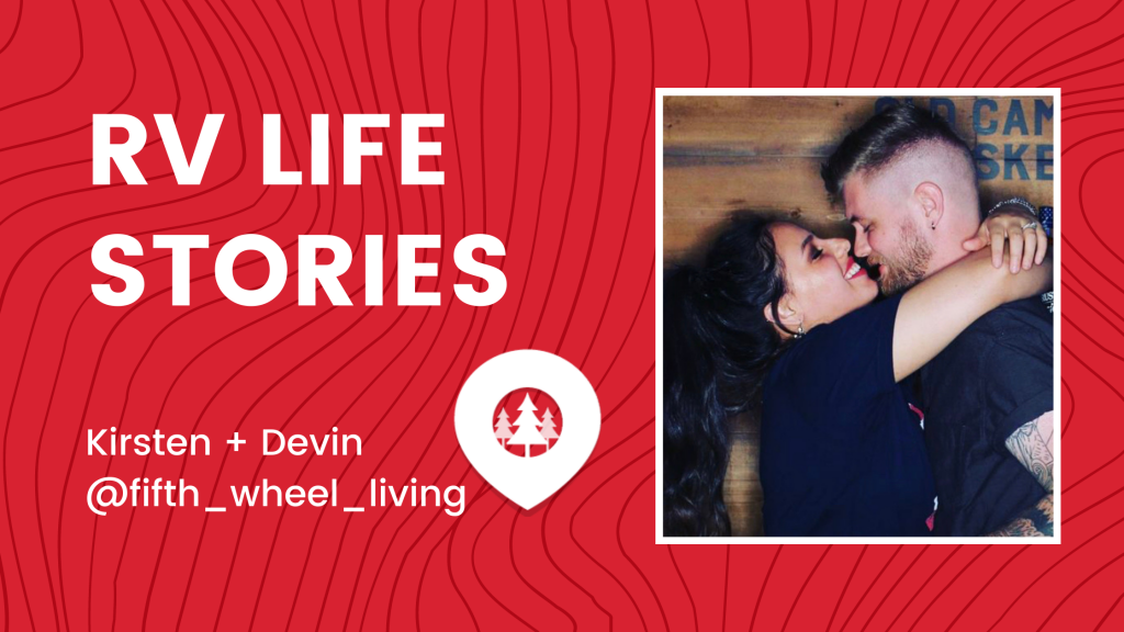 full-time RV couple - Kirsten and Devin