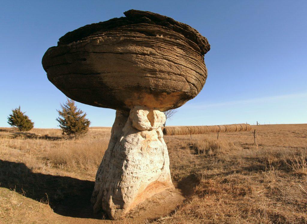 rock at mushroom state park
