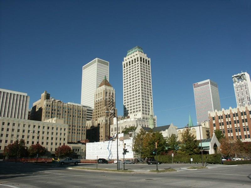 skyline in downtown Tulsa, OK