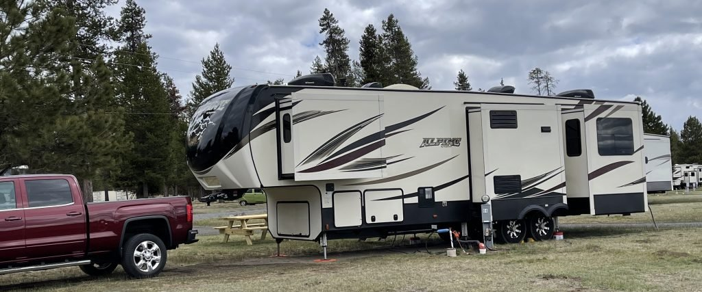 large 5th wheel RV with multiple slide outs