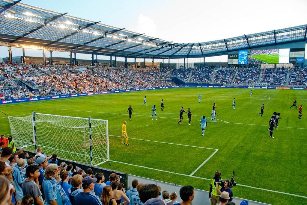 soccer game at stadium