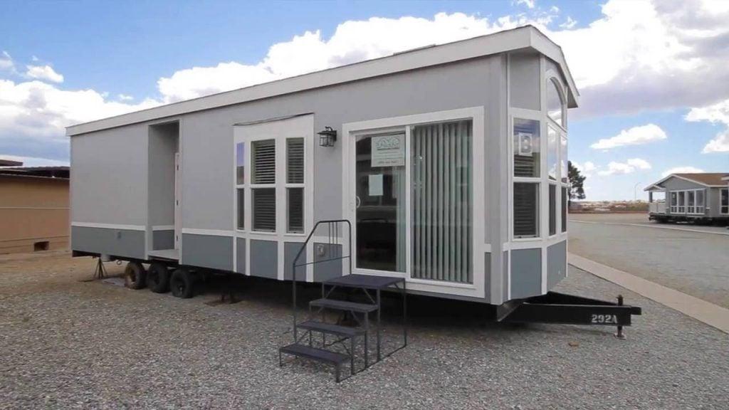 park model RV in trailer park