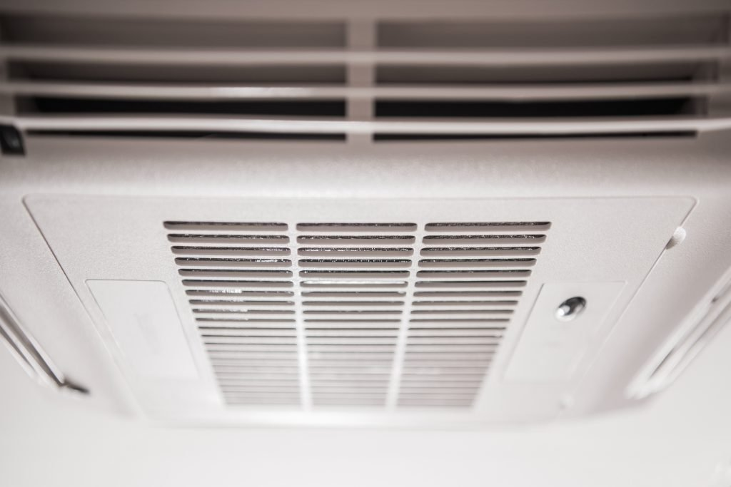 RV AC maintenance - air conditioner on RV roof