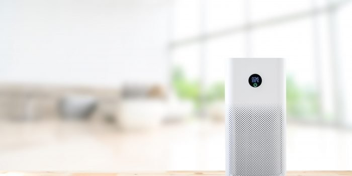 air purifier on counter