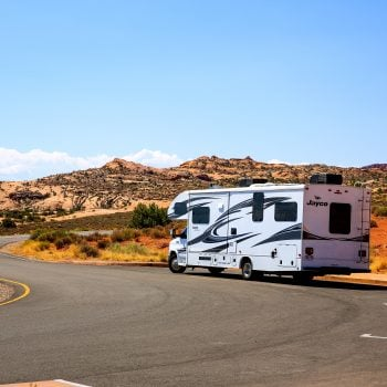 Camping in Utah with a Class C RV