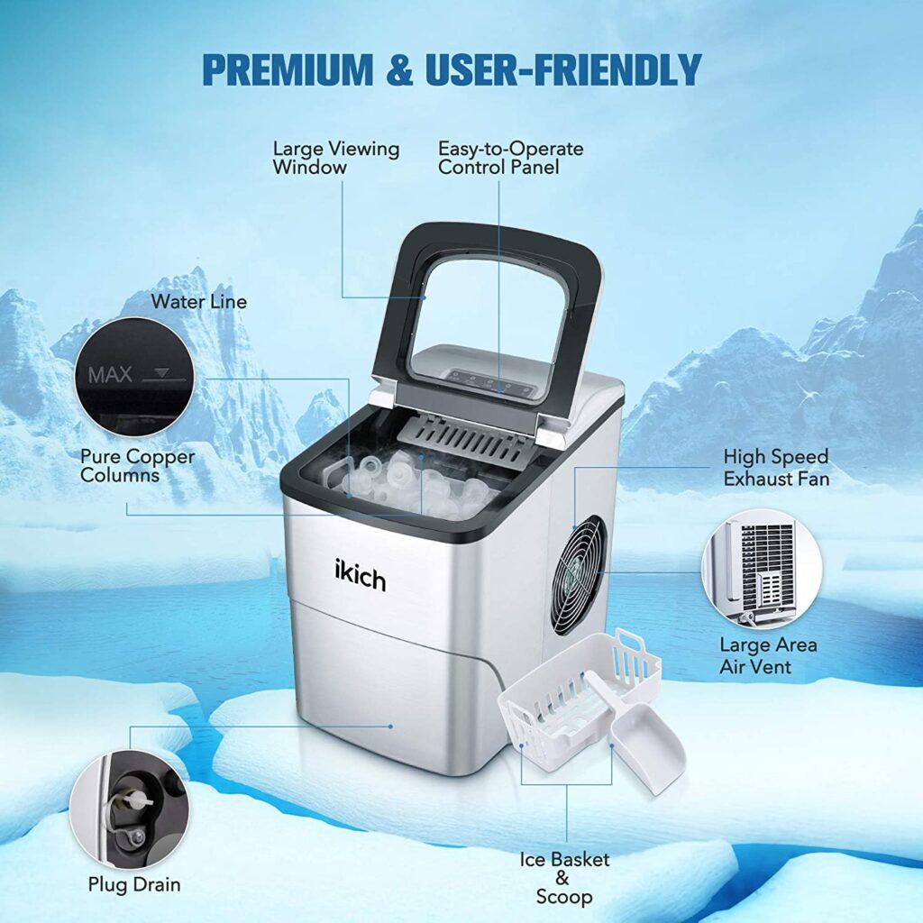 portable ice maker graphic