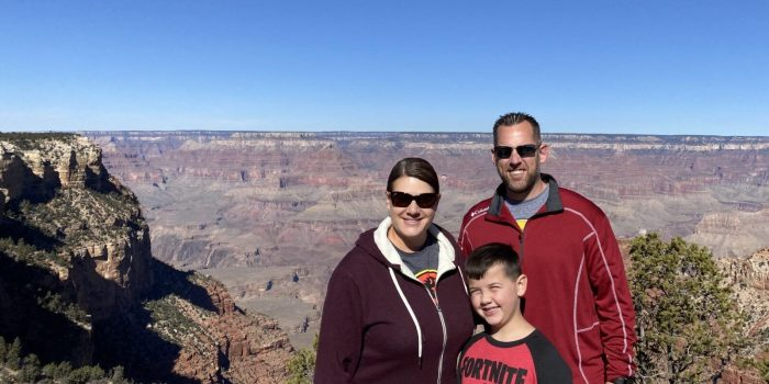 The Hinton Family at the Grand Canyon.