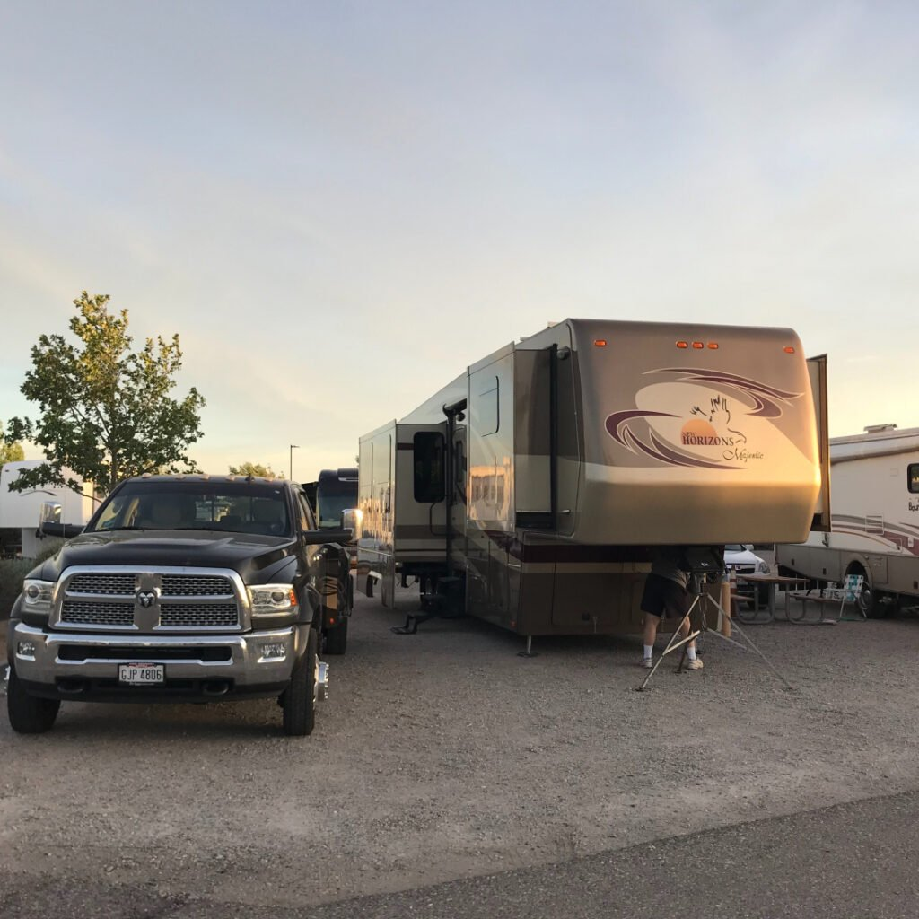 fifth wheel at High Desert RV Park