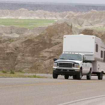 truck towing a fifth wheel - RV towing