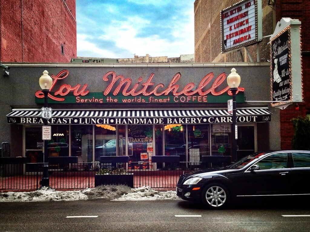 Lou Mitchell's Bakery exterior - Route 66 diners