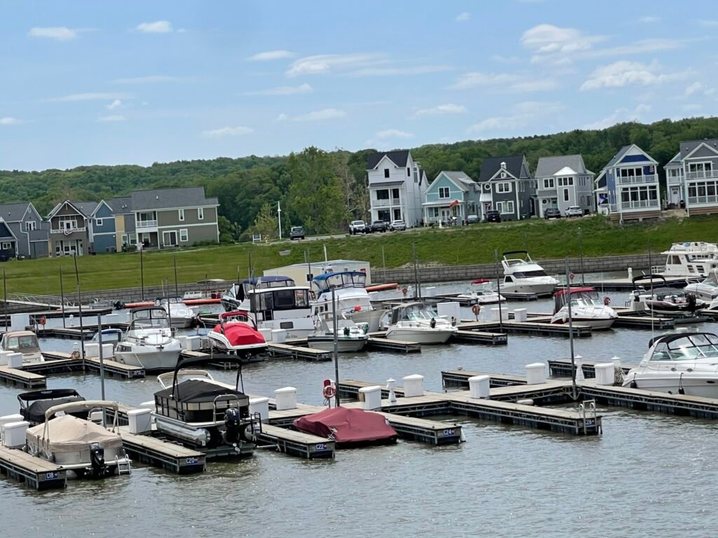 Heritage Harbor Marina with boats in their slips