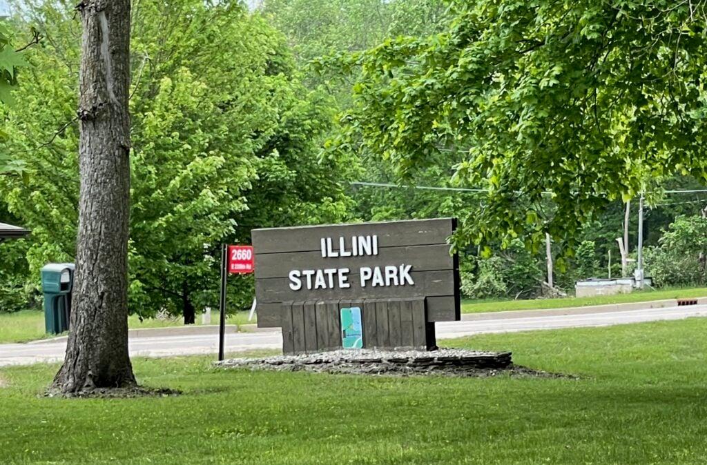Illini State Park on the Illinois River