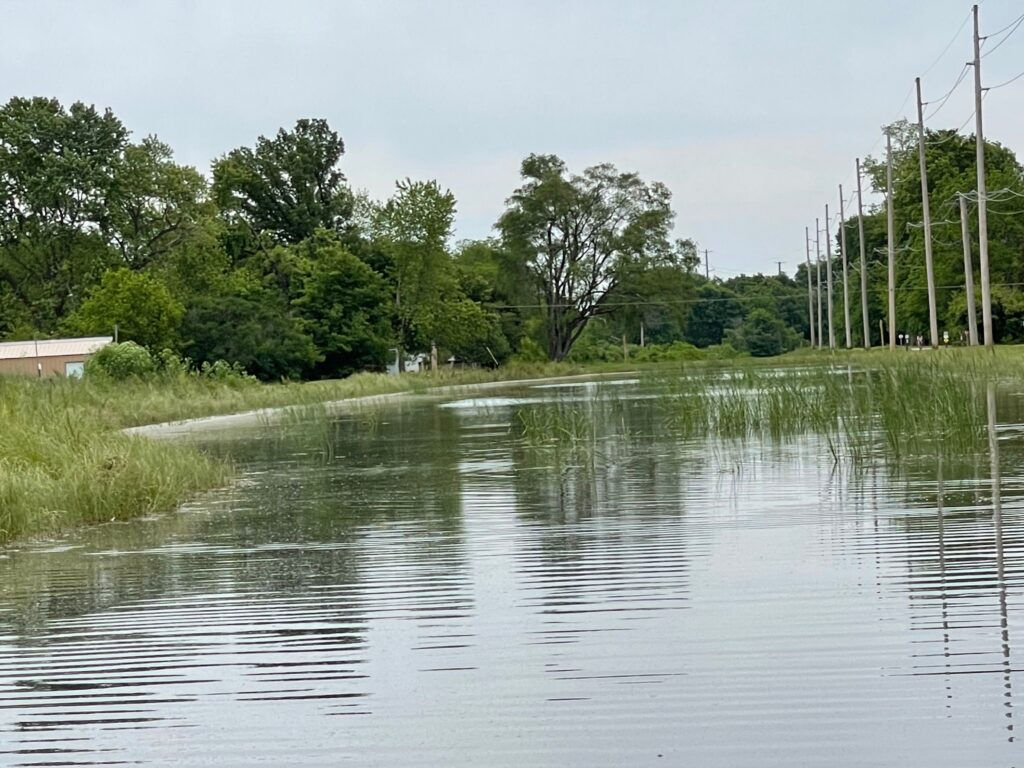 view of part of the I&M Canal from water level