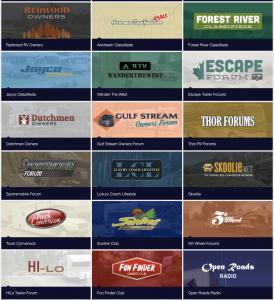 Grid of RV LIFE Websites