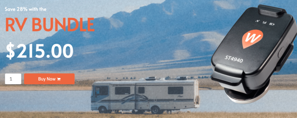 Wheresafe Ad with RV and GPS tracker