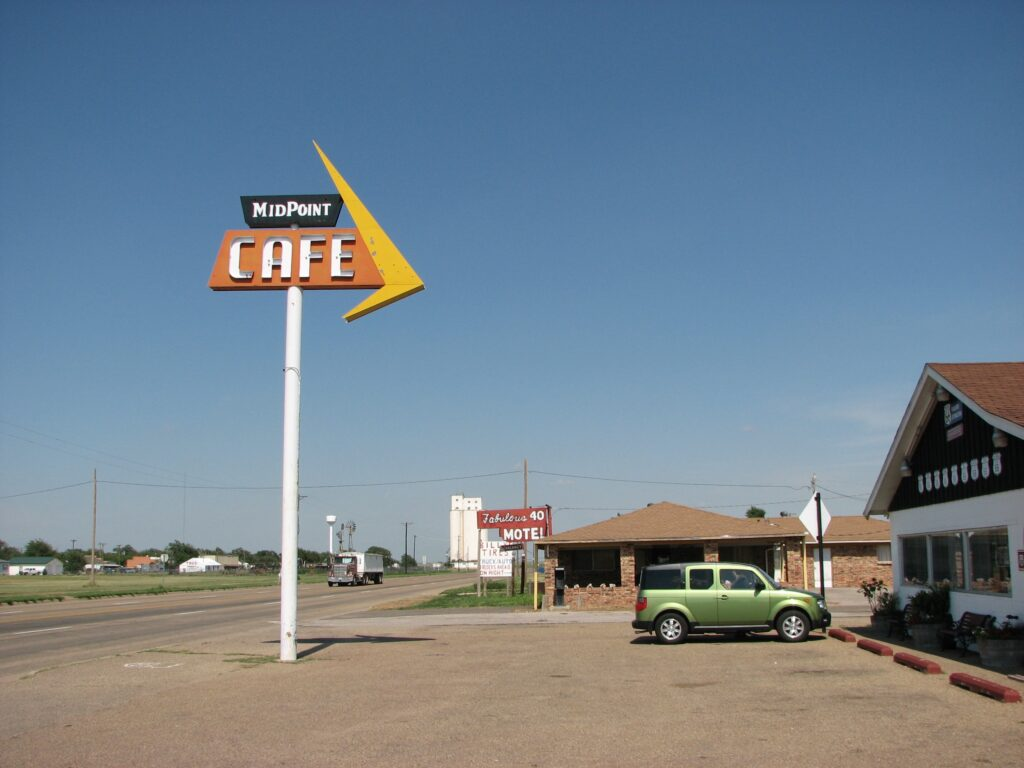 Midpoint Cafe in Texas - one of the popular Route 66 diners