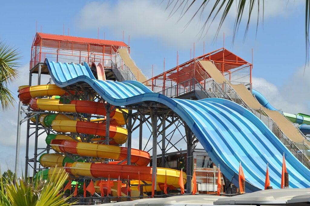Jellystone Pirate Cove water slides