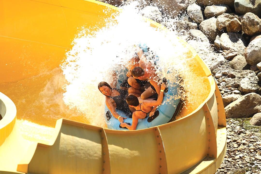 Calypso Cascade water ride at Lost Island Waterpark