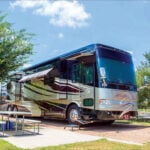 motorhome at one of the top Austin RV parks