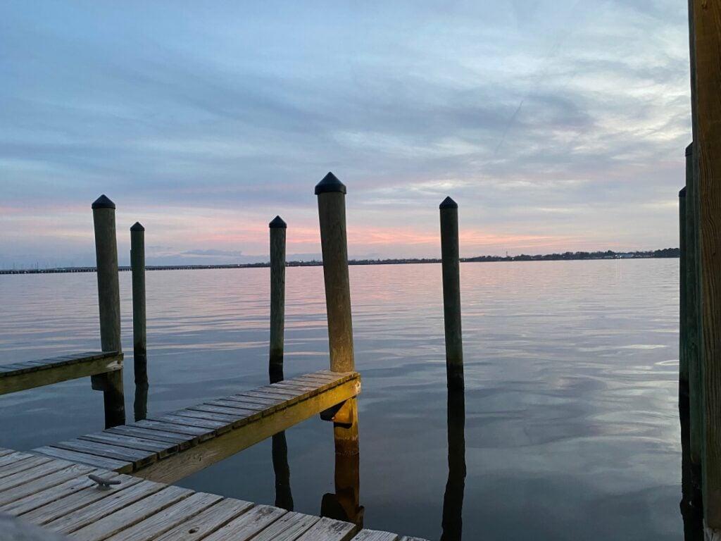 pier at RV park in North Carolina