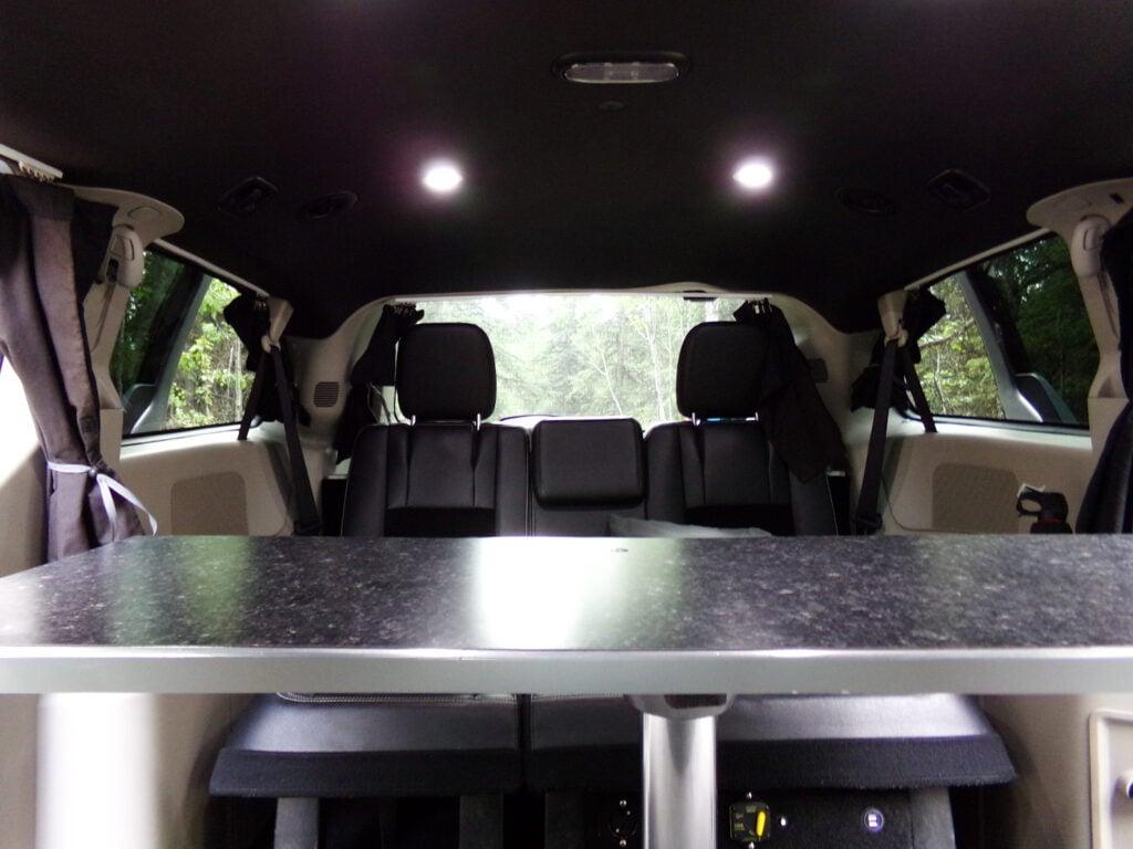 inside the Alaska camper van rental