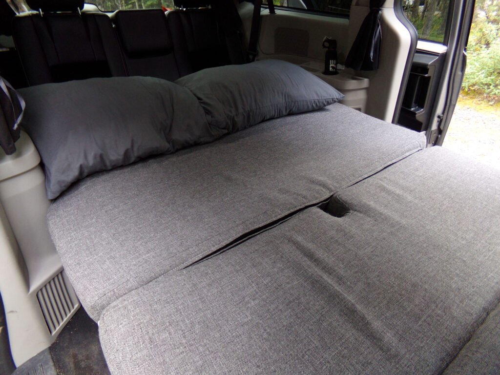 bed in Alaska camper van rental
