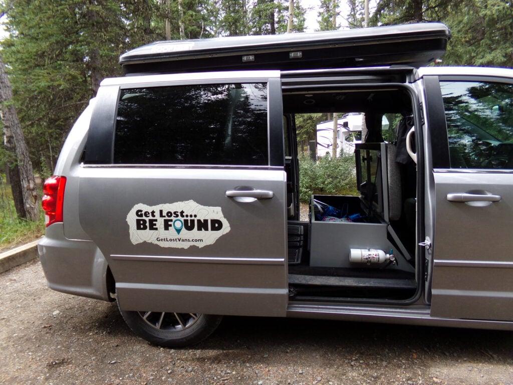 side of Alaska camper van rental