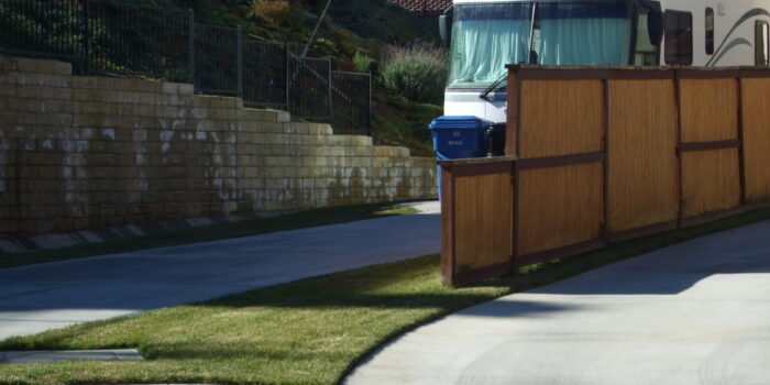 RV parking on private property