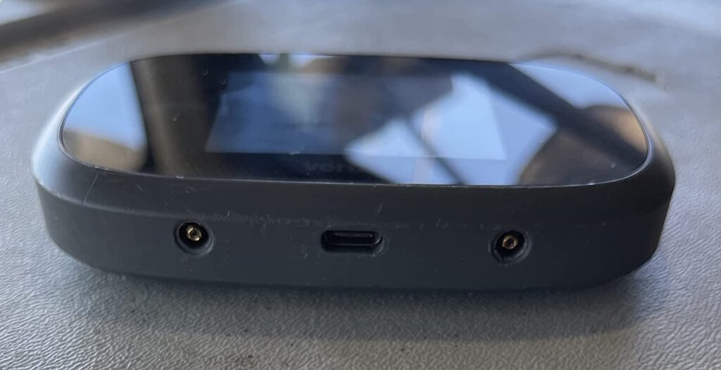 mobile hotspot router from the side