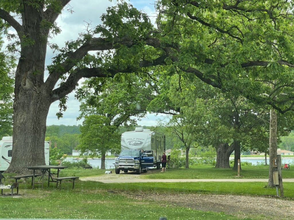 RV in wooded campsite - Can I refinance my motorhome?