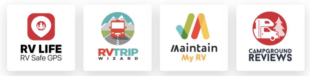 Graphic of items included in an RV LIFE Pro subscription