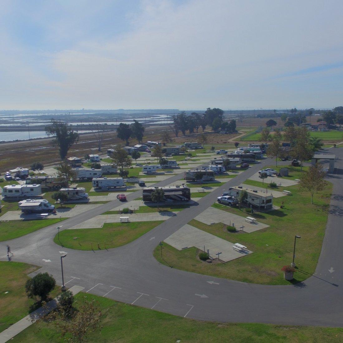 aerial view of Seabreeze RV Resort