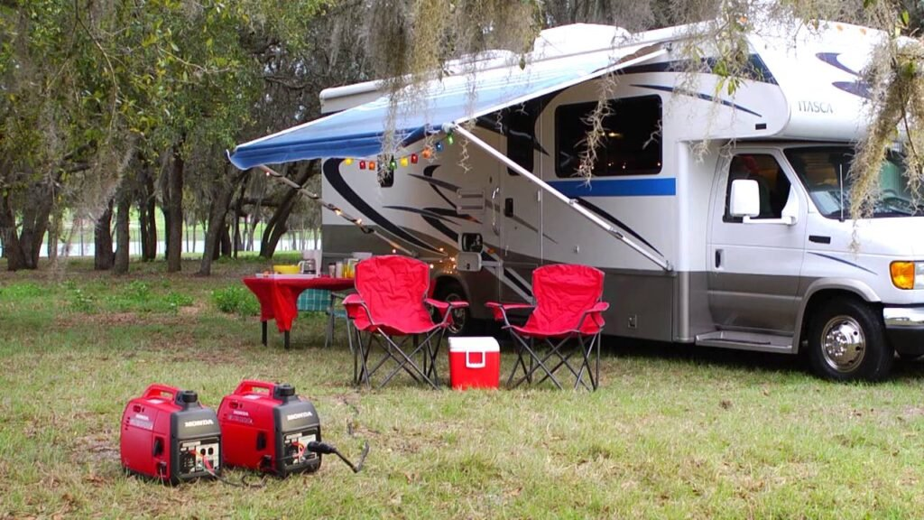 RV with two generators, causing noise pollution