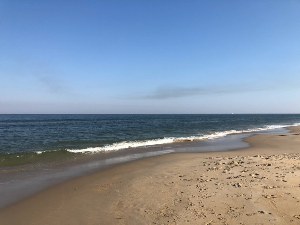 beach at Sea Mist - one of the popular US military campgrounds and RV parks