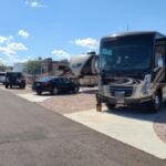 US military campgrounds and RV parks - motorhomes parked at campground