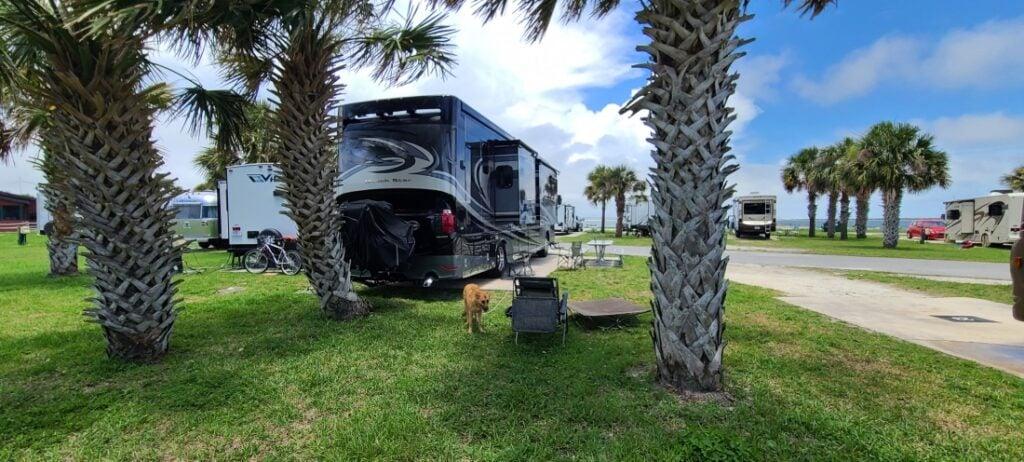 RV campsite at Pelican Roost RV Park
