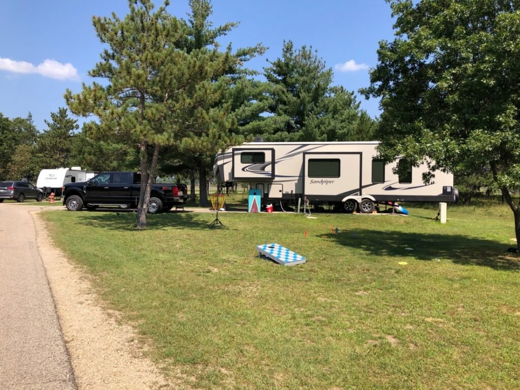 RV at Pine View Campground