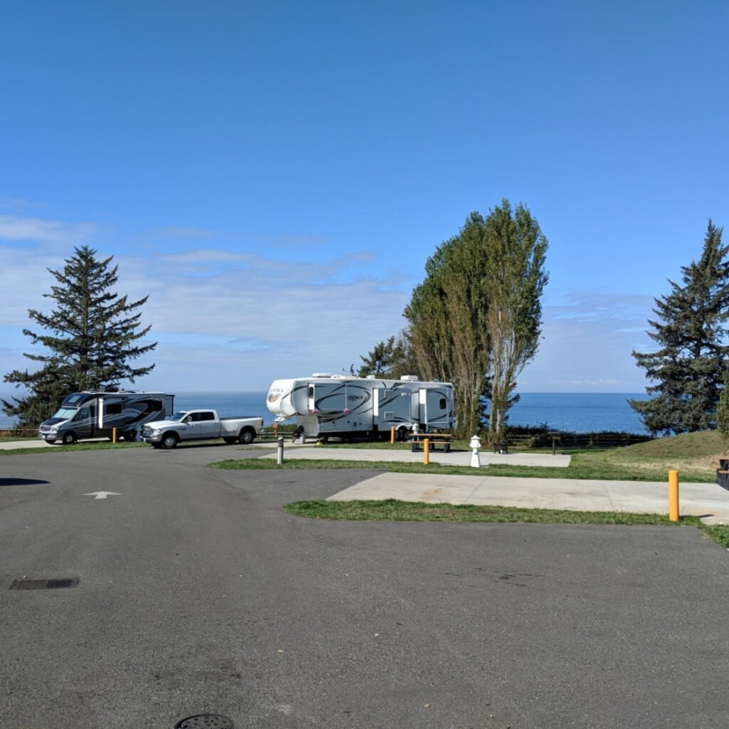 Cliffside RV Park view - one of the highly rated US military campgrounds and RV parks