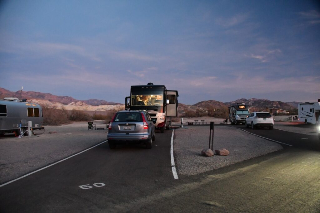 RVs at Furnace Creek Campground