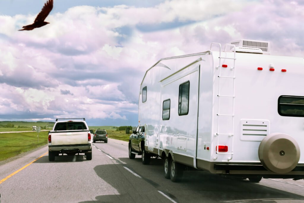 RV in stop and go traffic