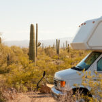 RV with an RV extended warranty in the desert