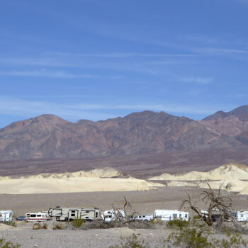national park campground for big rigs - death valley