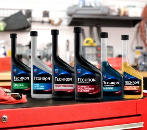 Full line up of Techron Complete Fuel System Cleaner